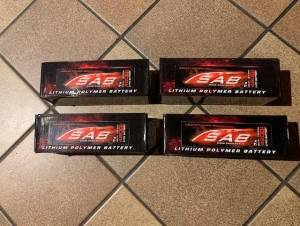 4 x SAB 7S 4800 mah competition 60-120 C NEUF