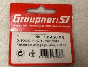 GRAUPNER - HELICE BIPALE G-SONIC PRO 20X8