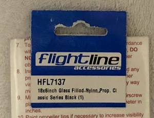 HELICE BIPALE EN FIBRE COMPOSITE 18X6