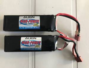 "2 LIPO HIGH POWER ""3S"" 2200 mAh 30 C  30"