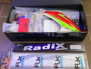 Lot helico 450, radio, chargeur