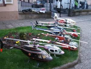 LOT 10 hélicoptères RC lama/écureuil / bell