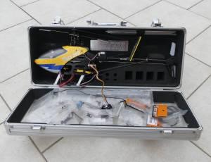 TREX 250 ALIGN avec valisette de transport.