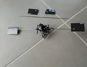 Tête de rotor Trex 500 avec barre de bell