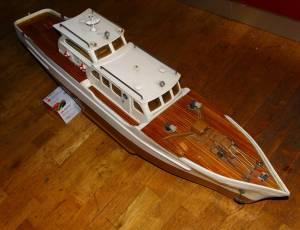 Grande maquette vintage bois bateau yacht  Brigand