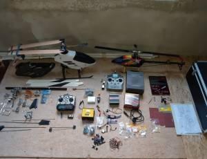 matériel rc + hélico hirobo GPH 346 , trex 500 .