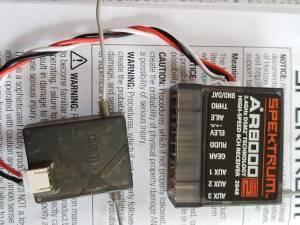 Récepteur  Spektrum AR8000 et  AS3X AR7350