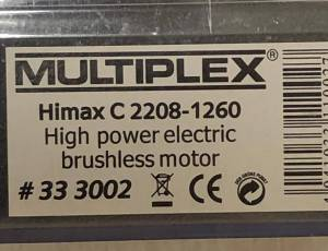 HIMAX C 2208-1260 - Moteur Brushless  MULTIPLEX