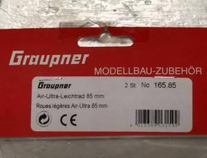 GRAUPNER 165.85 - Roues ultra légères Ø85mm