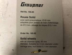 GRAUPNER 165.65 - Roues ultra légères Ø65mm