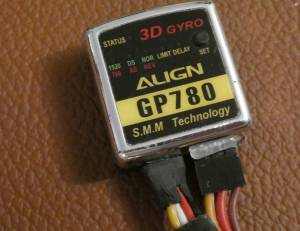 Gyro héli RC Align GP780 et Turnigy 3D-H